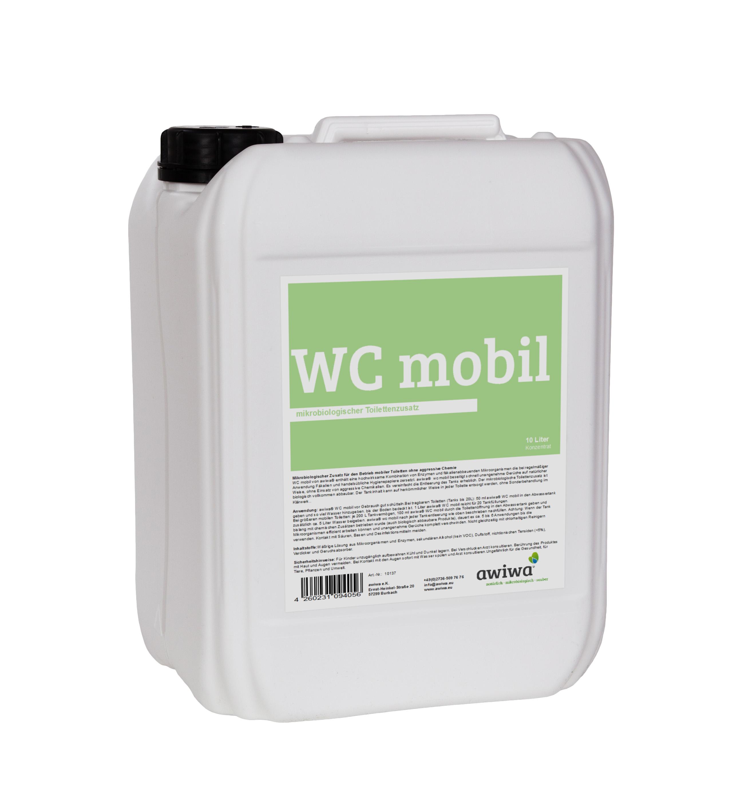 awiwa wc mobil mikrobiologischer camping toilettenzusatz. Black Bedroom Furniture Sets. Home Design Ideas