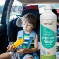 Kleiner Junge im Auto